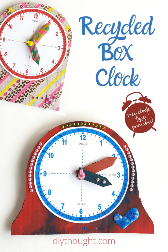 recycled box clock craft