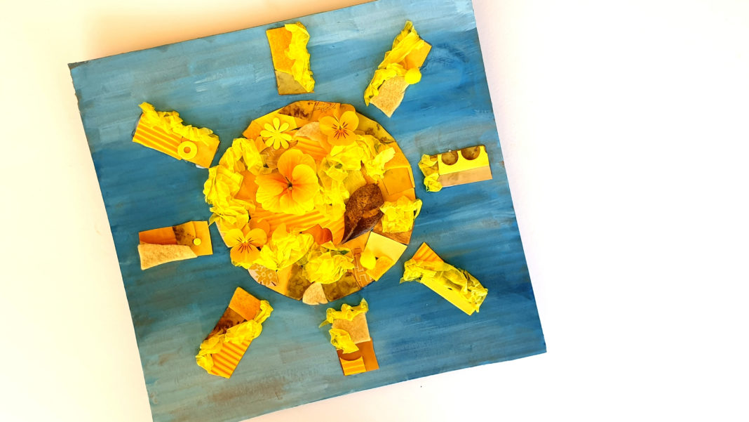 collage sun craft