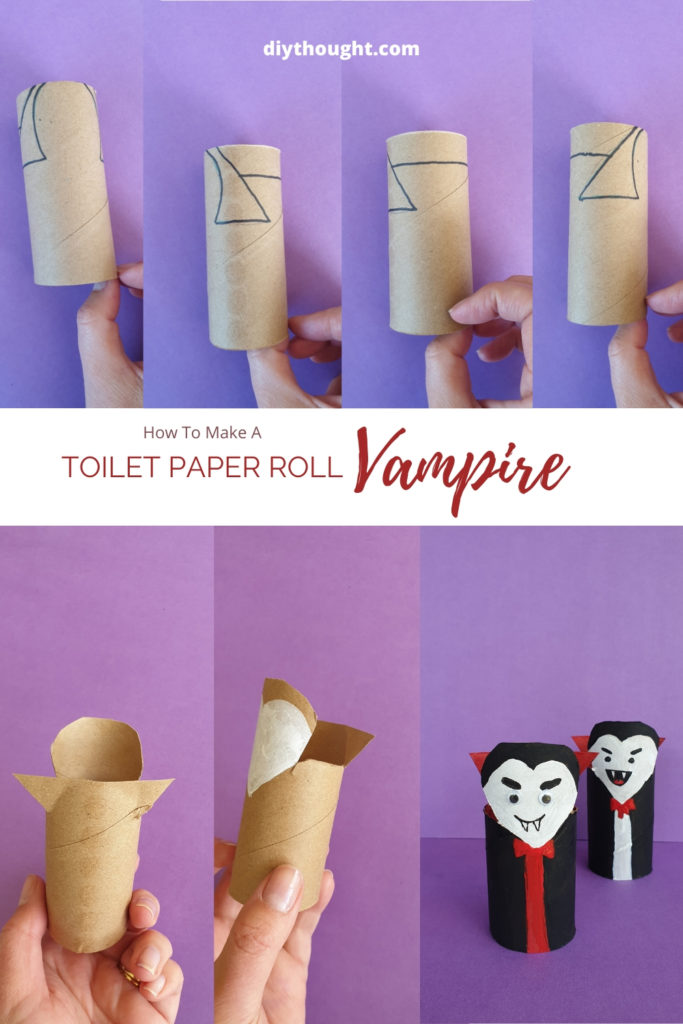 how to make a toilet tube vampire