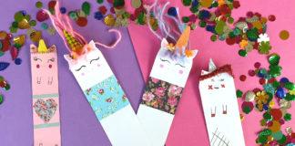 DIY unicorn bookmarks