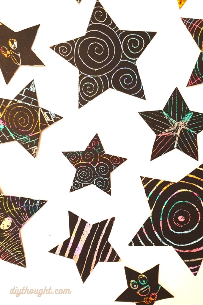 Scratch art star craft