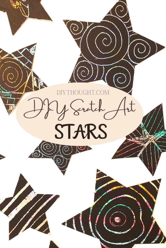 DIY scratch art stars