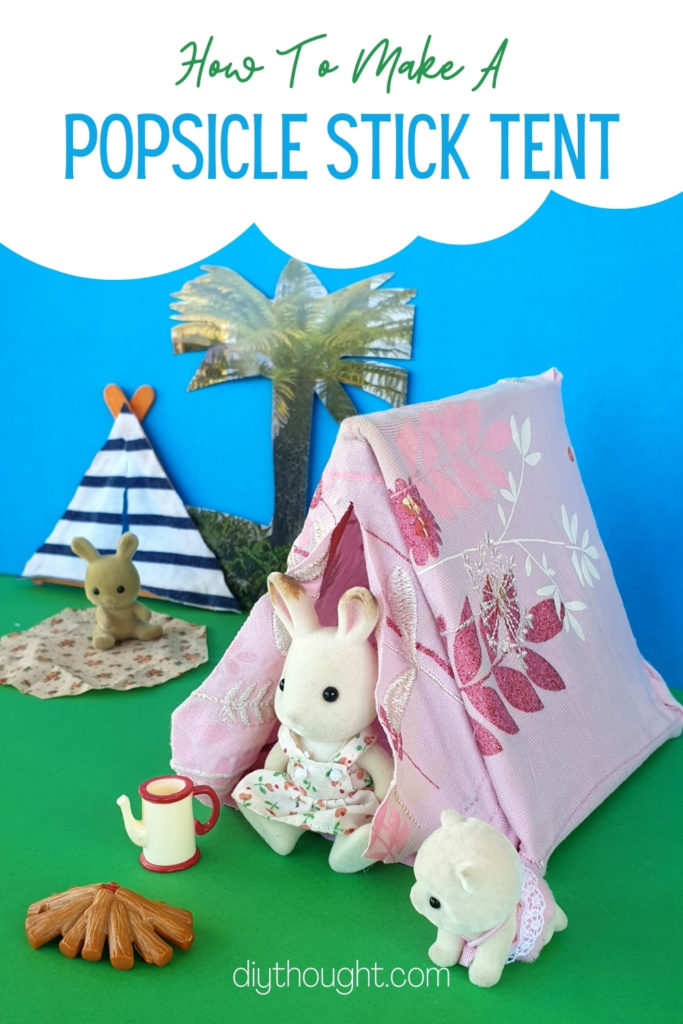how to make a tent with popsicle sticks
