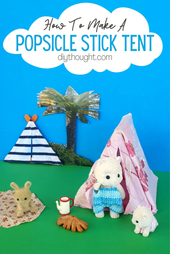 how to make a popsicle stick tent