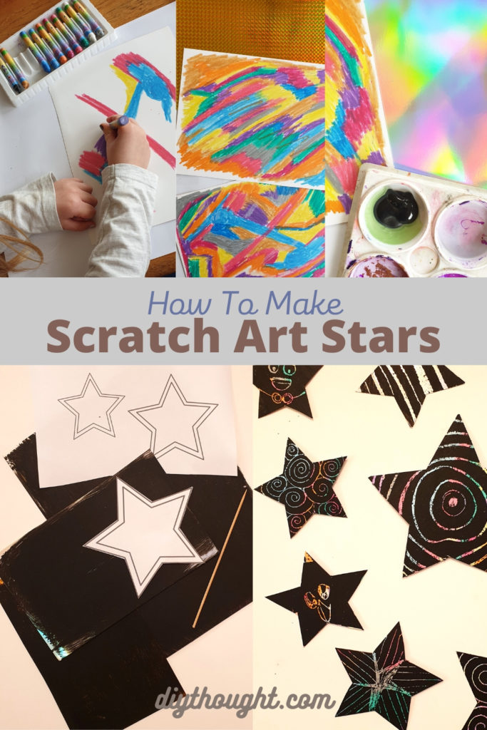 how to make scratch art matariki stars
