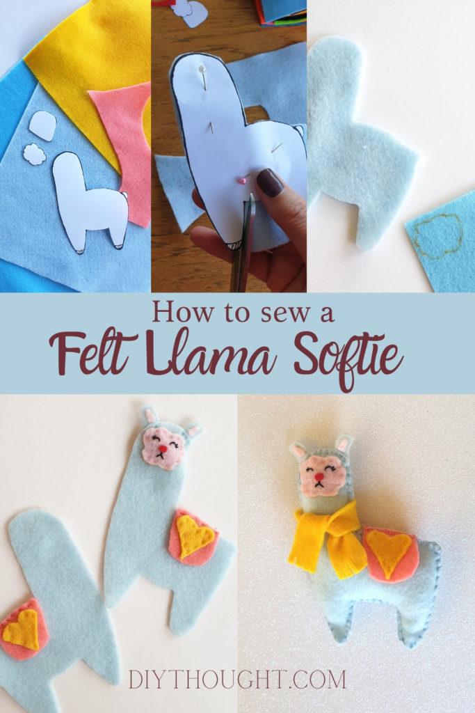 how to sew a easy felt llama softie