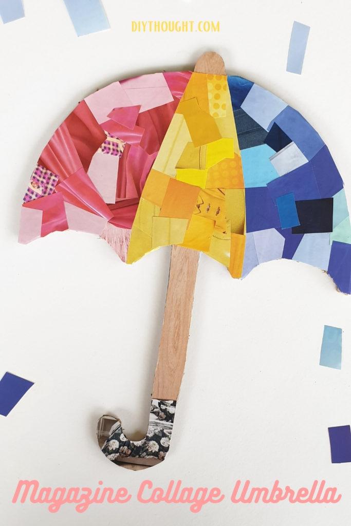 umbrella magazine collage kids craft