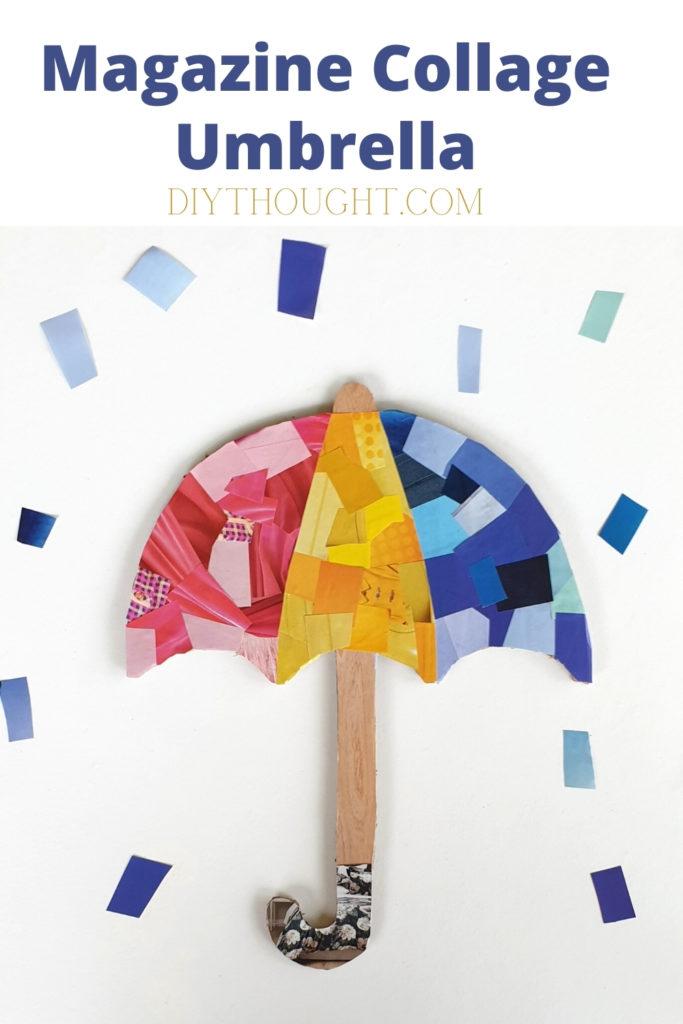 magazine umbrella collage craft