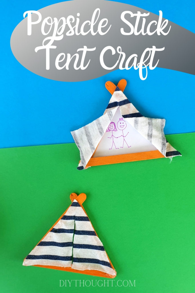 popsicle stick tent craft