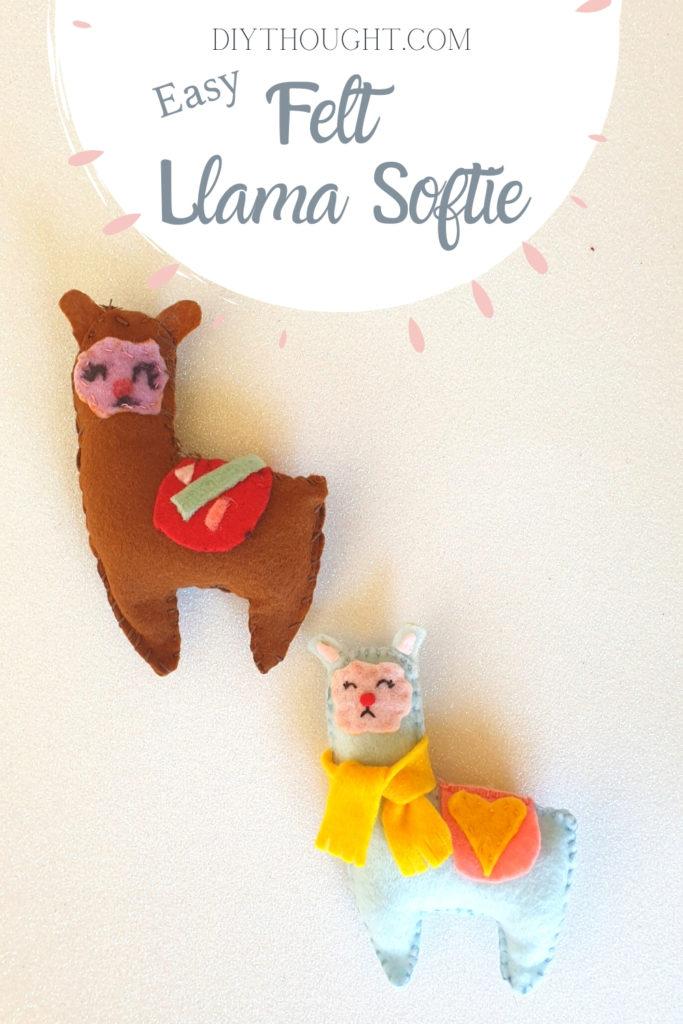 easy felt llama softie