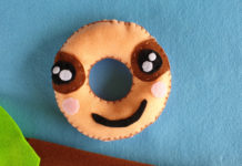 Donut sloth softie tutorial