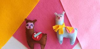 felt llama softie
