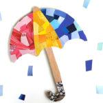 magazine collage umbrella