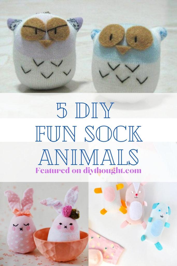 5 fun DIY sock animals