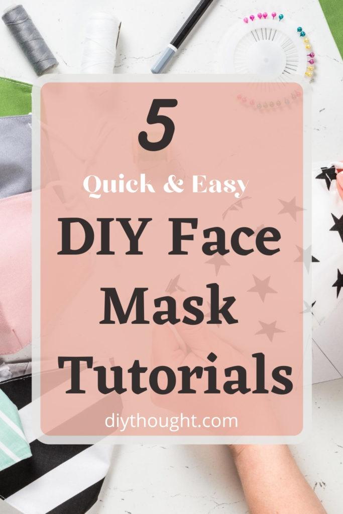 5 quick & easy DIY face mask tutorials