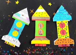 Rocket card craft