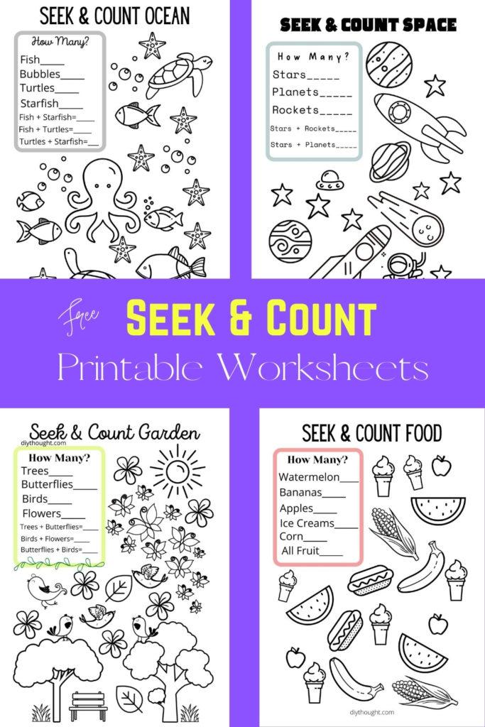 free seek and count printable worksheets.