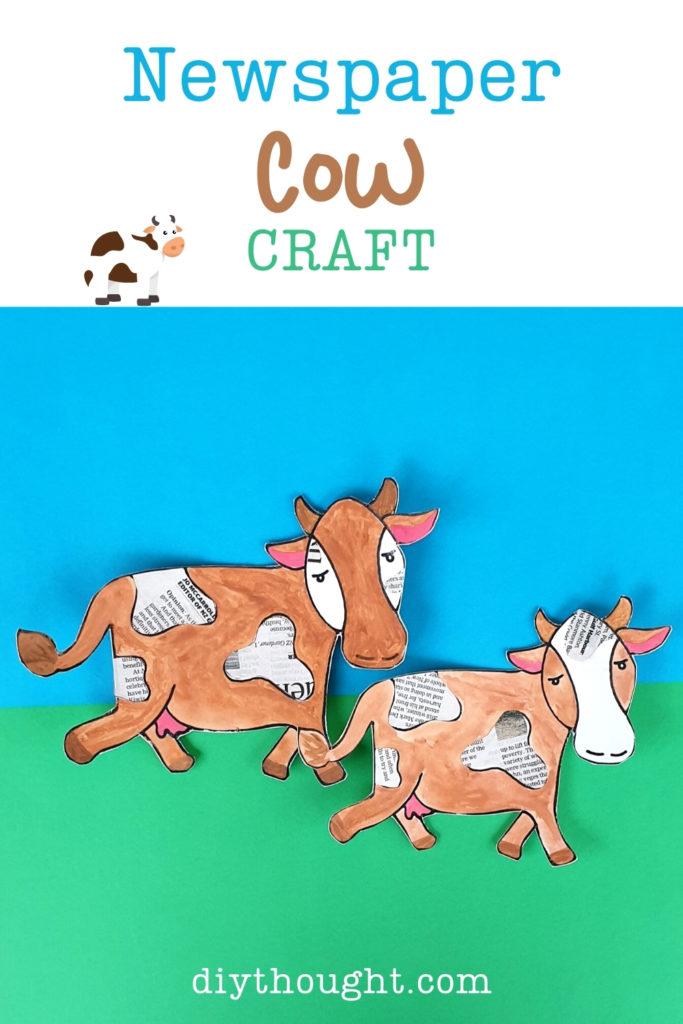 newspaper cow craft