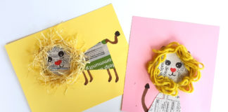 newspaper lion craft