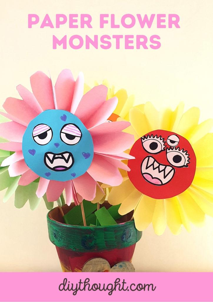paper flower monster craft