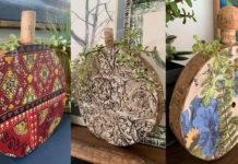 wood slice pumpkins DIY