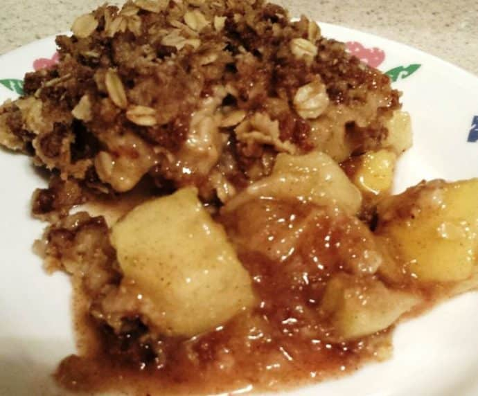 Slow cooker apple crisp dessert
