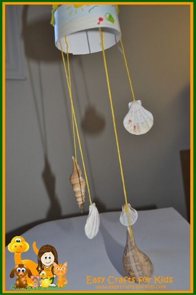 seashell crafts for kids wind chime