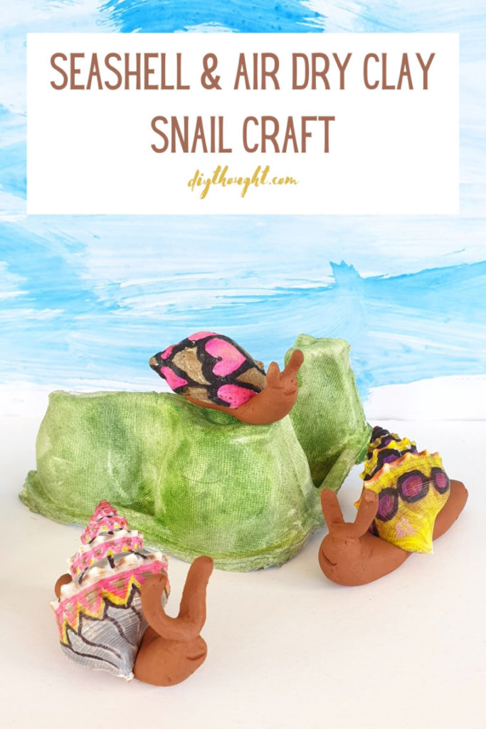 seashell crafts for kids snails