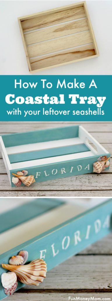 coastal tray DIY