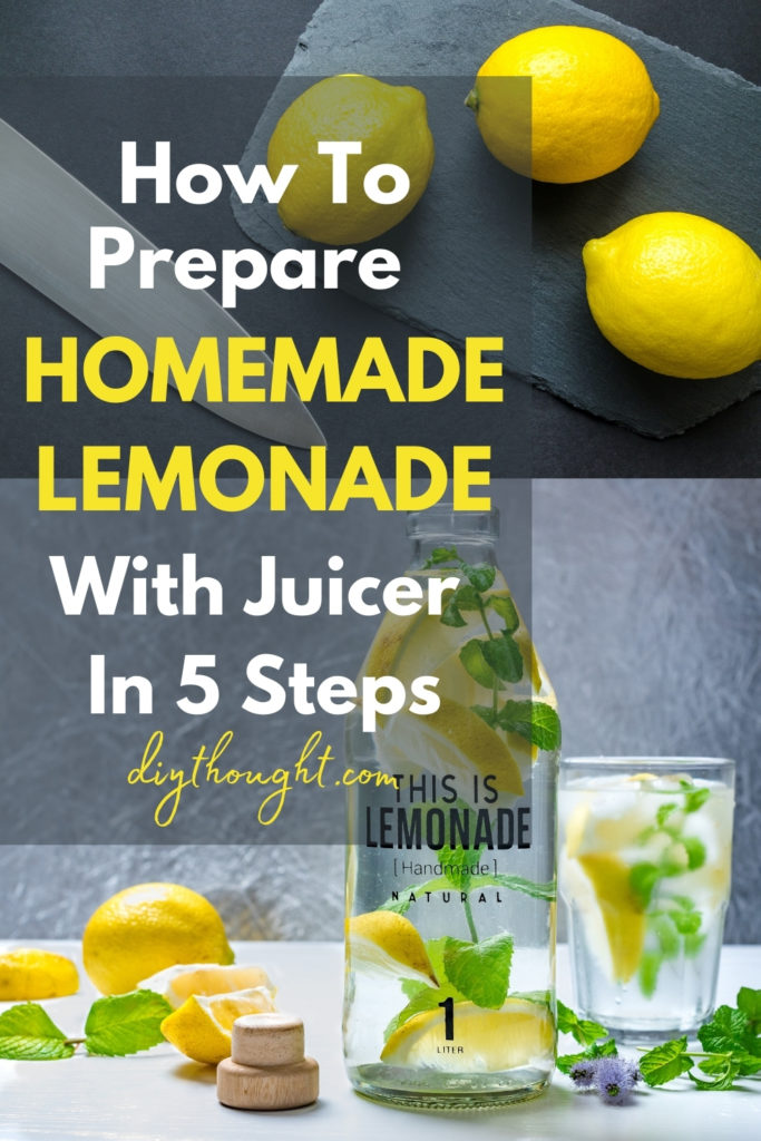 how to prepare homemade lemonade with juicer in 5 steps