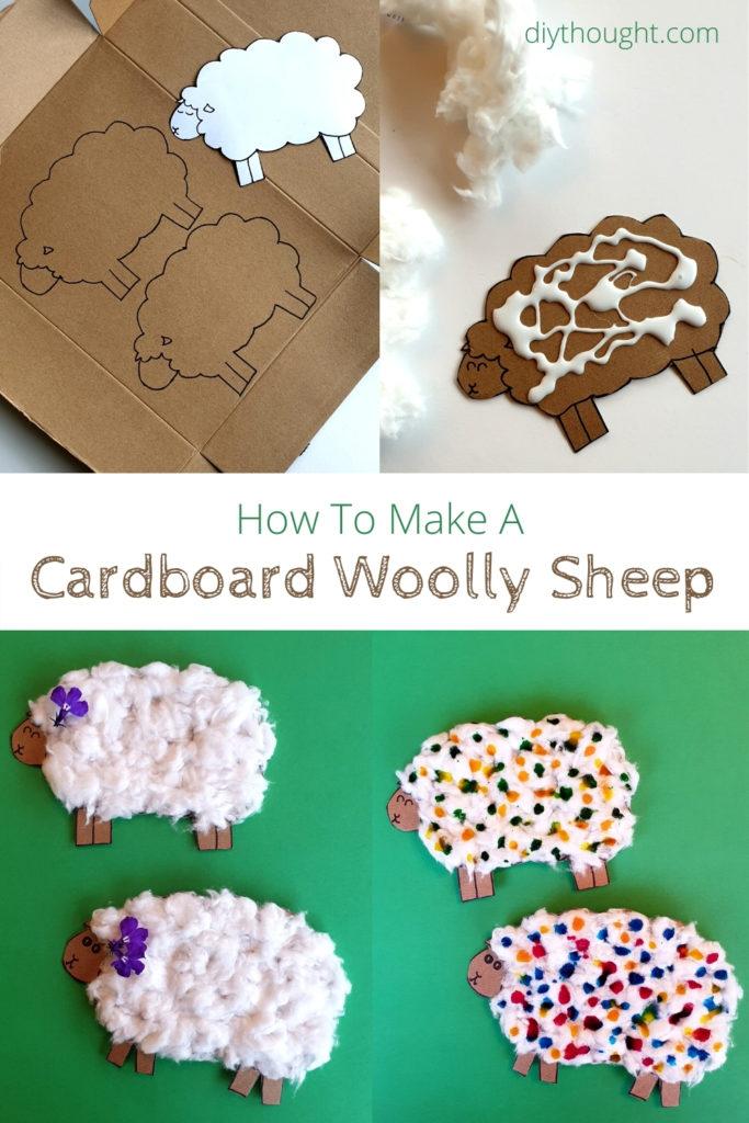 how to make a cardboard woolly sheep