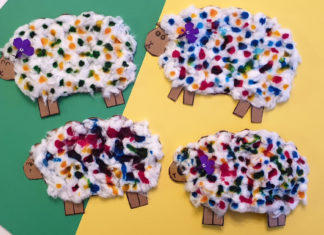 woolly sheep craft