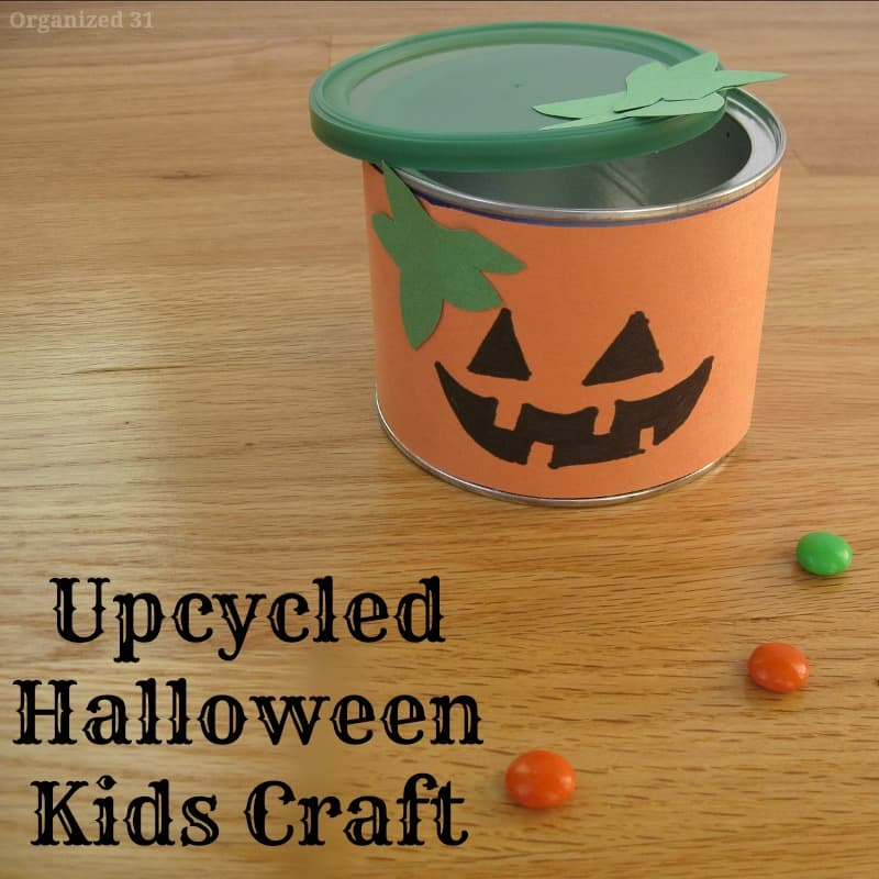 pumpkin halloween tin craft