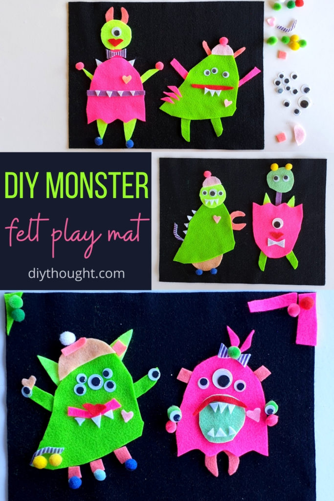 DIY monster felt play mat