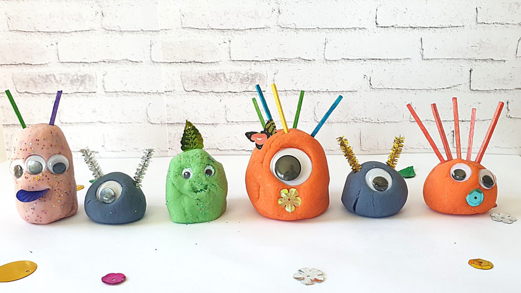 playdough monster activity