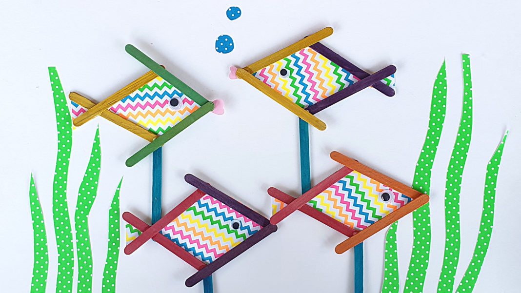 popsicle stick fish craft