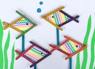 popsicle stick fish craft