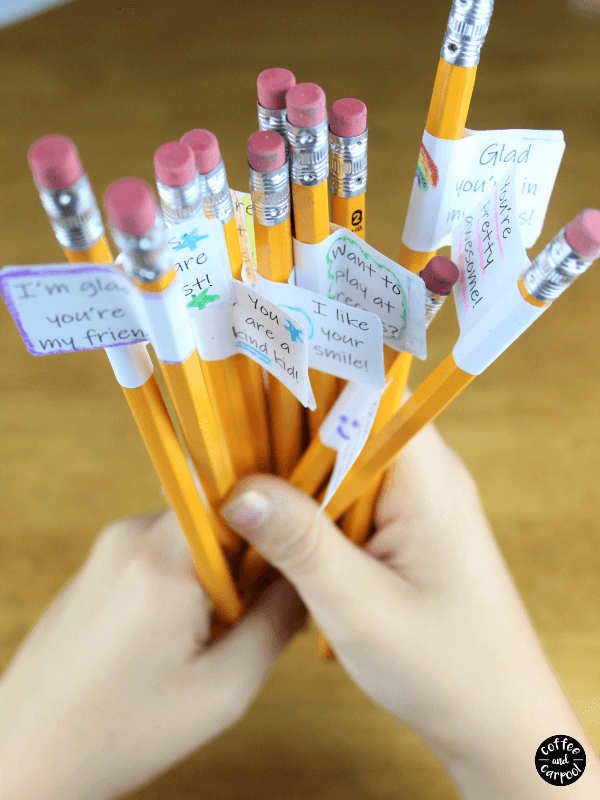 kindness pencil toppers