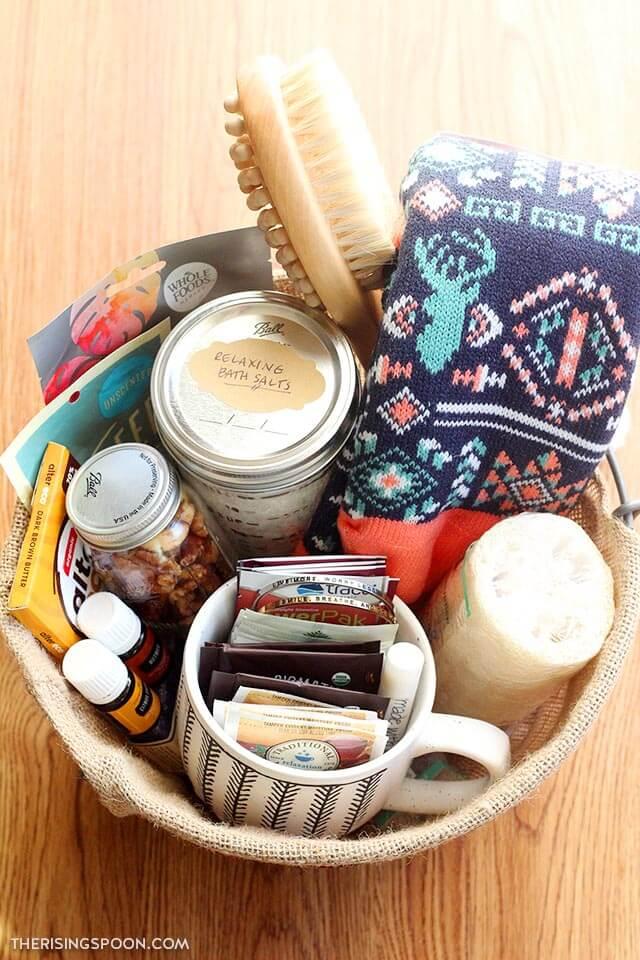 self-care gift basket