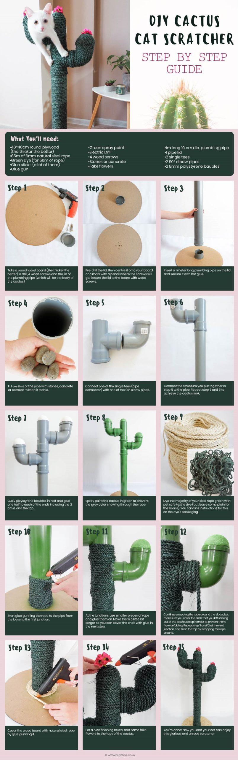 How to make a cactus cat scratcher