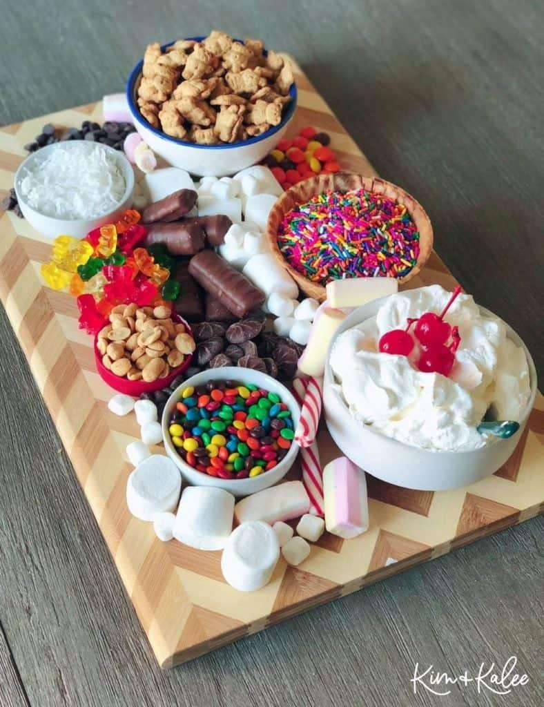 Ice cream sundae Charcuterie/ Grazing Boards