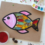 Toilet paper roll fish art
