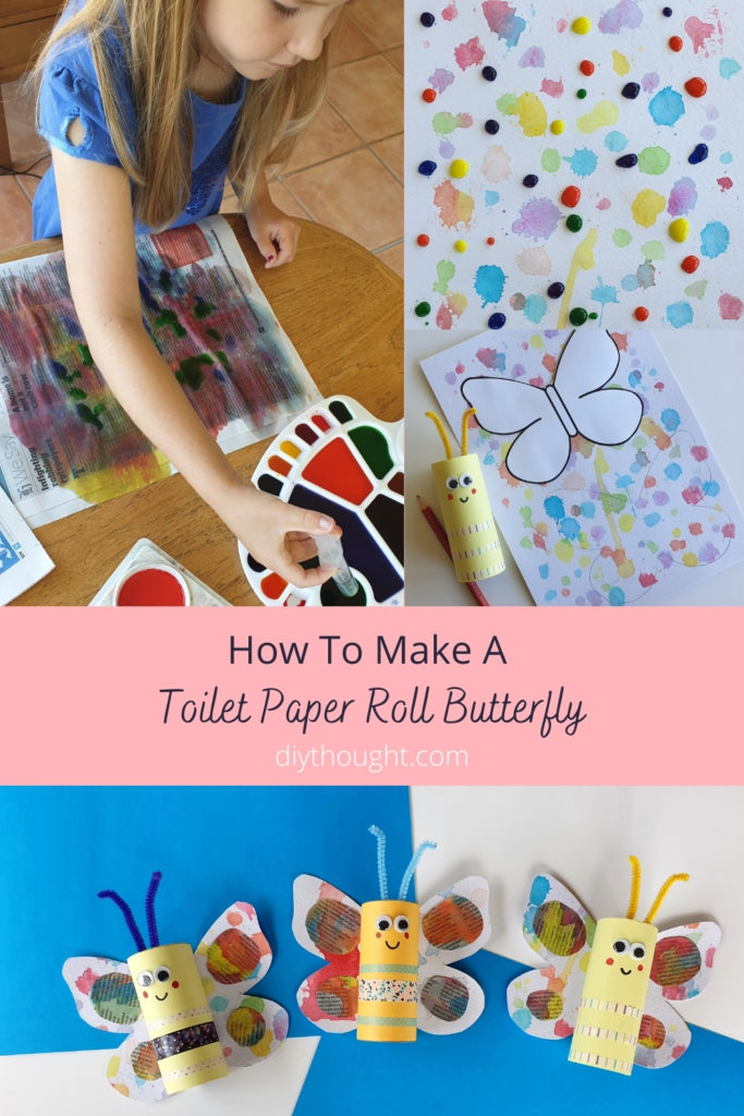 How to make a toilet paper roll butterfly