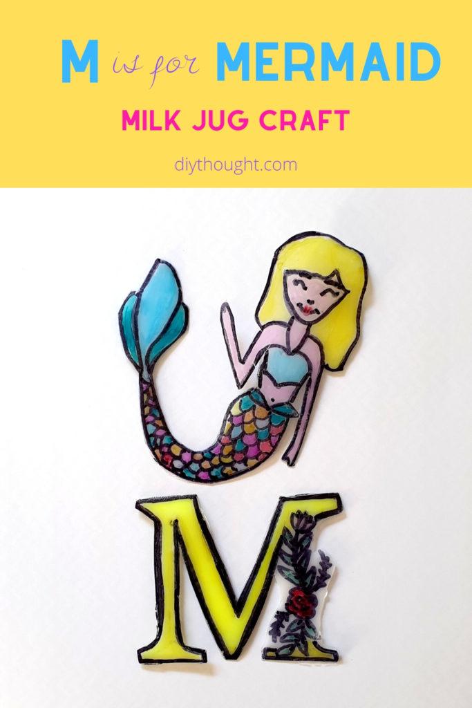 milk jug mermaid art