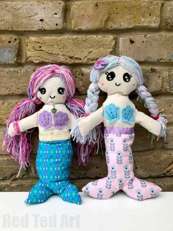 mermaid doll sewing project