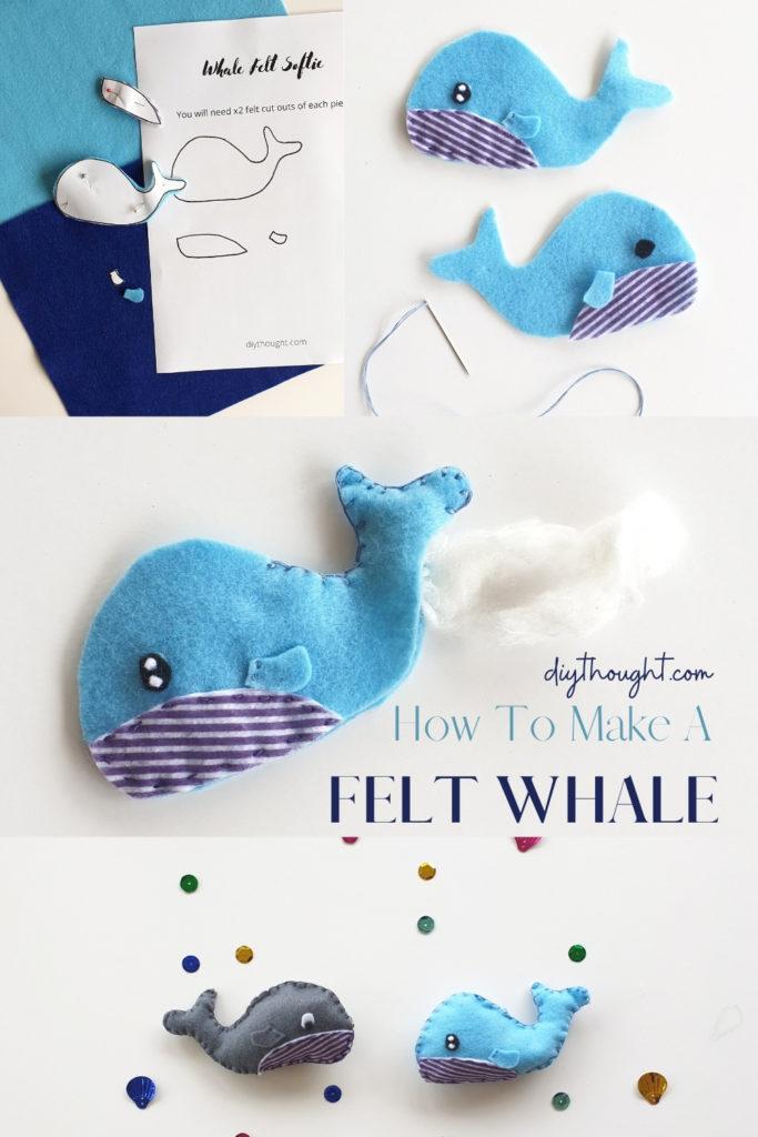 How to make a felt whale softie