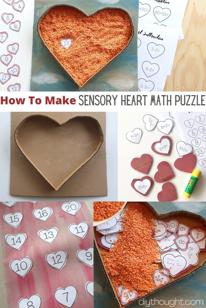 Sensory Heart Math Puzzle