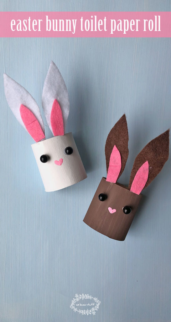 16 Kids Bunny Rabbit Easter Crafts- toilet paper roll