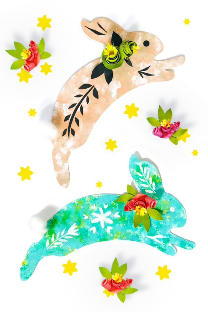 16 Kids Bunny Rabbit Easter Crafts- art rabbits
