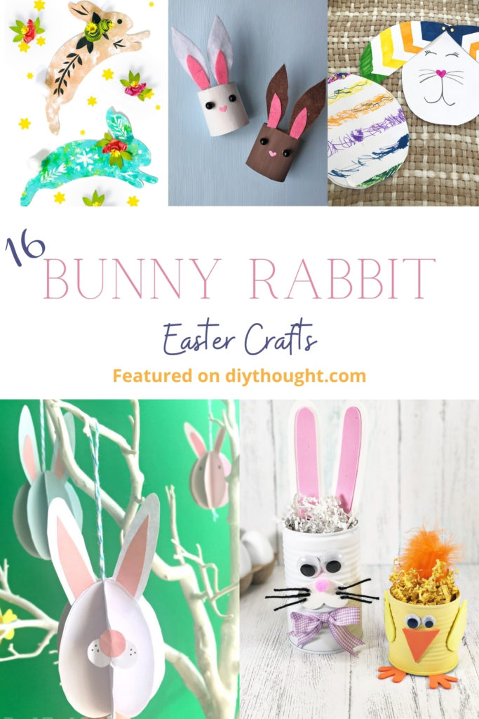 16 Kids Bunny Rabbit Easter Crafts